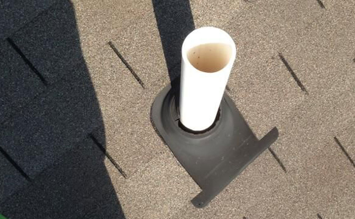 Pipe Flashing Repair